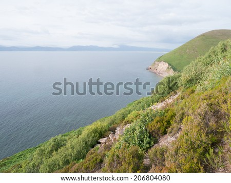 Ocean view, the ring of Kerry Ireland - stock photo