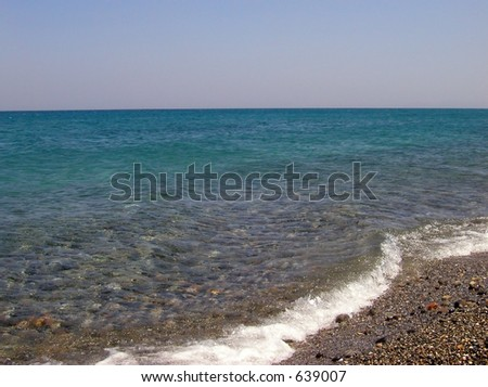 Ocean View with grey pebbles  - nice background