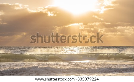 Ocean Wave. - stock photo