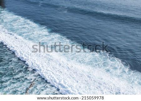 Ocean wave background. - stock photo