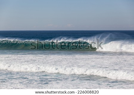Ocean Wave Wall Crashing Ocean wave wall upright breaking crashing water natures power