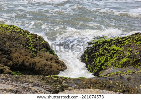 Ocean waves among the rocks