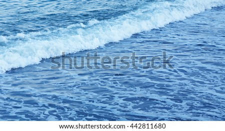 Ocean waves and foam details abstract background travel concept
