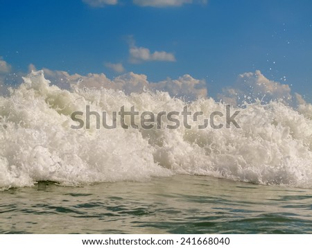 Ocean waves close up  - stock photo