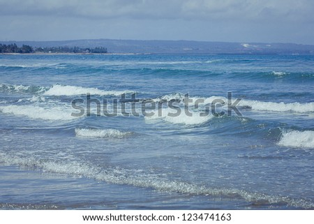 Ocean waves. Indian ocean. Bali. Indonesia