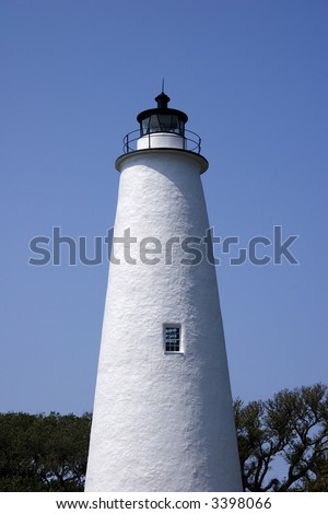 Ocracoke Lighthouse - stock photo