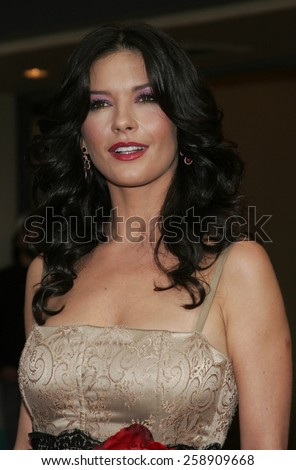 """October 16, 2005. Catherine Zeta-Jones at the Columbia Pictures' """"The Legend of Zorro"""" Los Angeles Premiere at the Orpheum Theatre in Los Angeles downtown, California United States. - stock photo"""