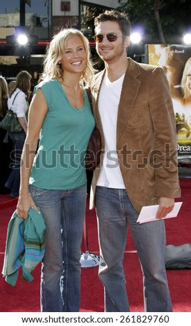 "October 9, 2005 - Erin Bartlett and Oliver Hudson at the ""Dreamer"" Los Angeles Premiere at the Mann Village TheatreWestwood, California United States. - stock photo"