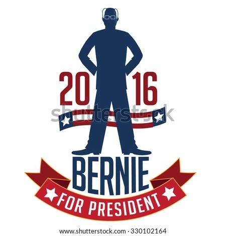 October 21, 2015: Illustration showing Democrat presidential candidate Bernie Sanders for President 2016. - stock photo