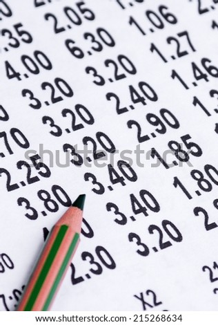 Odds for more football games - stock photo
