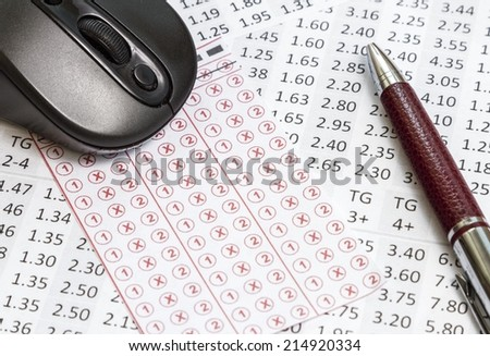 Odds that can be betting online - stock photo