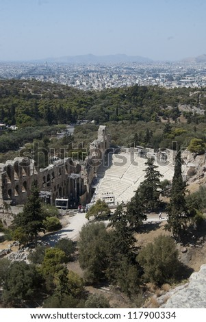 Odeon of Herodes Atticus - stock photo