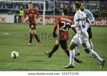 ODESSA, UKRAINE - December 08, 2016: Henrikh Mkhitaryan during the UEFA Europa League match between Zarya Lugansk vs Manchester United (Manchester, United Kingdom), Ukraine