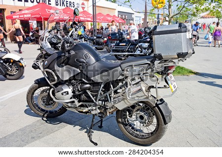 Odessa, Ukraine - 31 May 2015:  A Lot of Motorcycle. Motorcycles motorbike bikers.