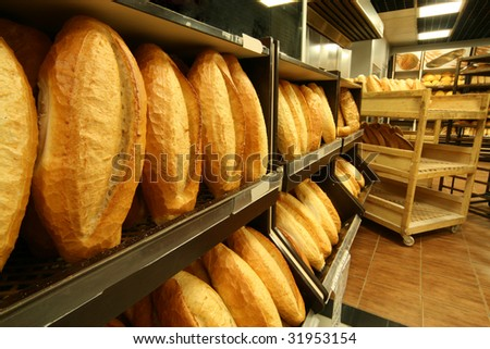 Of hot bread ready for sale