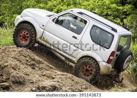 Offroad Cars Show Great Charity Stock Photo Royalty Free - Car show barriers