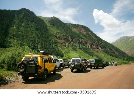 Off-road rally in Colorado Rockies, USA