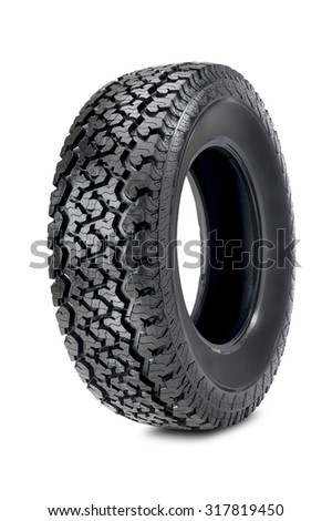 offroad tire isolated on white background