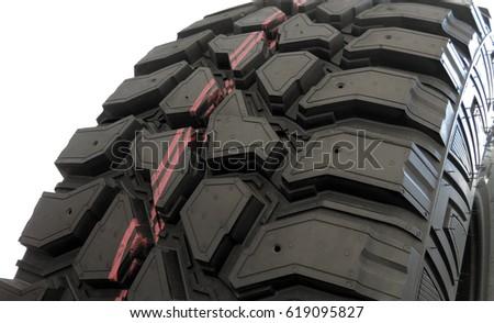 Off Road Tire Tread Pattern Sipa Stock Imag...