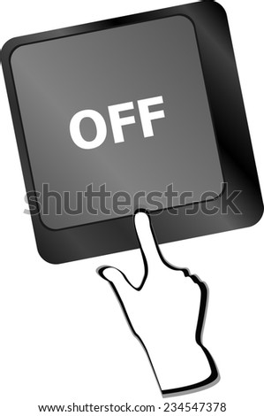 off word on keyboard button - stock photo
