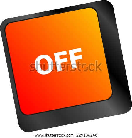 off word on red keyboard button - stock photo