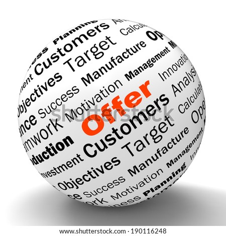 Offer Sphere Definition Shows Special Prices Discounts Or Promotions