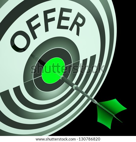 Offer Target Meaning Cheap Reductions And Promotional Sale - stock photo