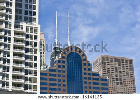 Office and condo buildings in Chicago, IL.