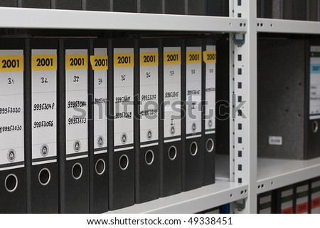 office archive - stock photo