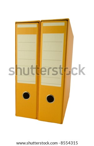 office binder to organize the paper work - stock photo