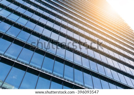 Office building at evening