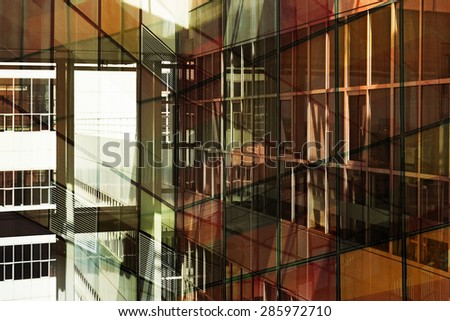 Office  building background - stock photo