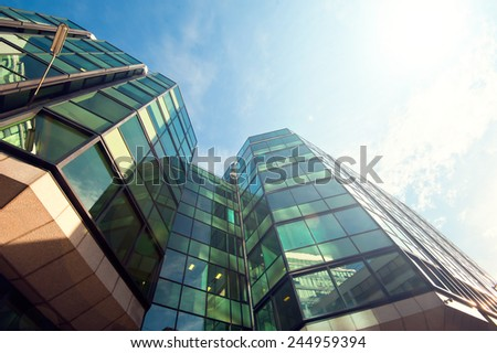 Office building close up - stock photo