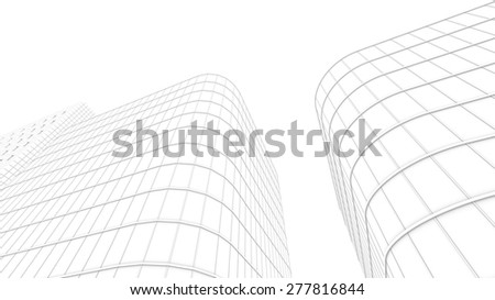 office building for use as background - stock photo