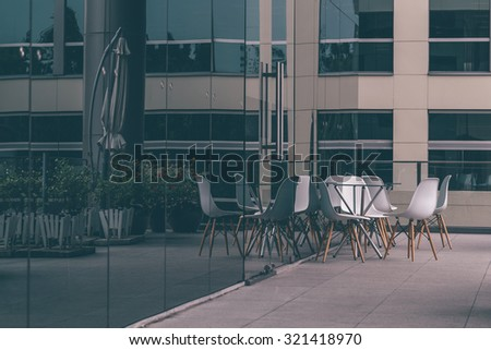 Office building front - stock photo