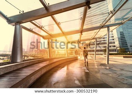 Office building in Shanghai,china - stock photo