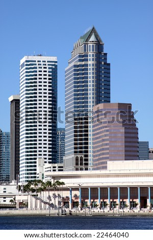 Office Building in Tampa Florida - stock photo