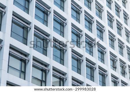Office building windows background - stock photo