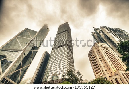 Office Buildings in Hong Kong Central.
