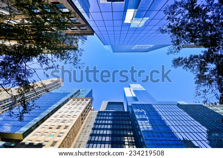 Office Buildings in New York. - stock photo