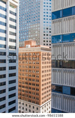Office buildings in San Francisco financial district - stock photo