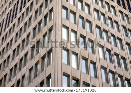Office buildings in Toronto's Financial District - stock photo