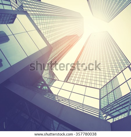 Office buildings. Instagram style filtred image - stock photo