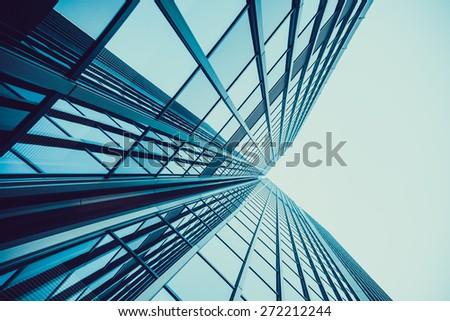 office buildings.  Skyscraper - stock photo