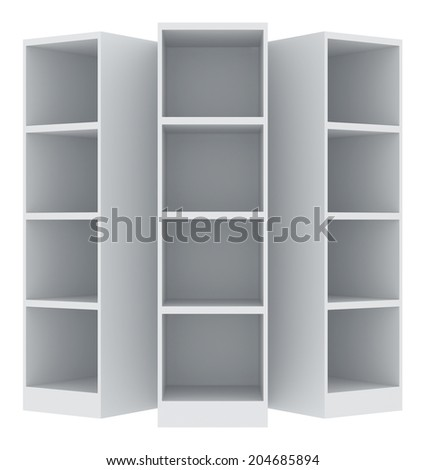 office cabinet. isolated on white background - stock photo
