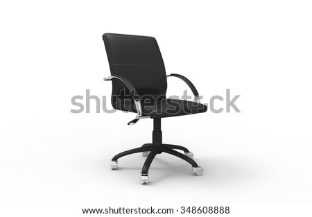 Office Chair Black - stock photo