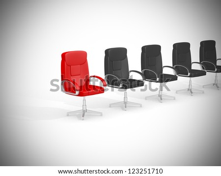 Office chair concept isolated on white background - 3d render illustration