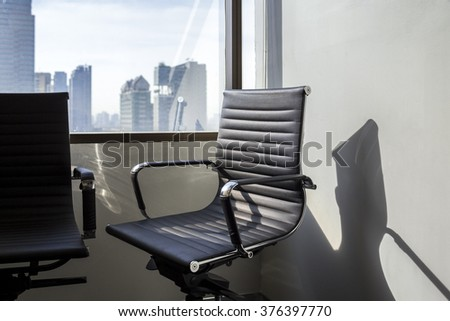 Office chair in meeting room - soft focus