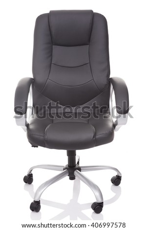 Office chair isolated on white background - stock photo