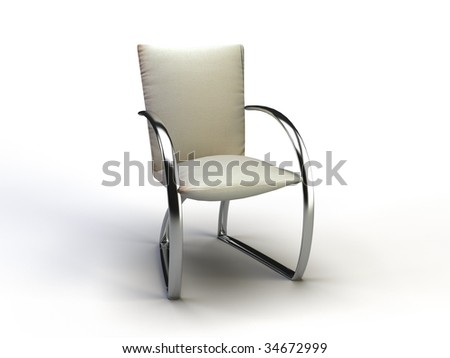 office chair on the white background - stock photo